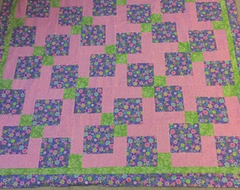 Field of Flowers Baby Quilt