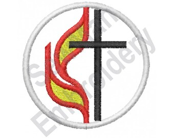 methodist cross and flame clipart high quality clip art vector u2022 rh clipartdesign guru