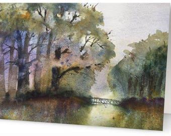 Peaceful Watercolor notecard