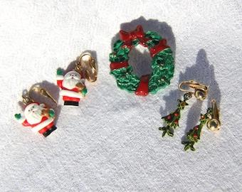 Christmas Lot - Pin and Earrings