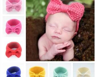 Set of 16 Crochet Headband, Bow Headband Baby, Bow Headband, Crochet Bow Headband Pattern, Crochet Headwrap Pattern, Crochet Head warmer
