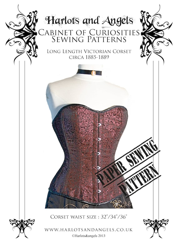 Victorian real Corset Paper Sewing Pattern, steampunk, Vintage ...