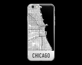 Chicago iPhone Case, Chicago Phone Case, iPhone Chicago, Chicago IL Phone Case, Chicago iPhone 5 Case, iPhone 6 Case, Art, Gift