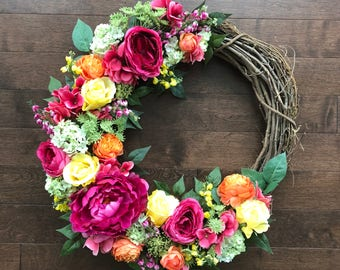 Wonderful Summer Wreaths For Front Door, Front Door Wreaths, Summer Wreath, Summer  Door Wreath