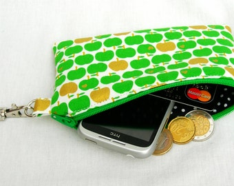 Coin purse with keyring. Keyring coin purse. Purse with keyring. Zipped pouch with keyring. Cell phone purse with keyring. Zip keyring pouch