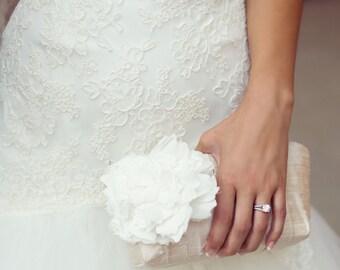 Ivory wedding clutch, Personalized bridesmaid gift, Bridal clutch, Bridesmaid clutch, Vintage wedding, Clutch bag, Clutch purse, Wedding bag