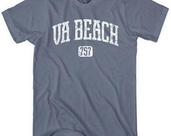 Virginia Beach 757 Hoodie - Men S M L XL 2x 3x - Virginia Beach Hoody, Sweatshirt, VA, Hampton Roads - 4 Colors