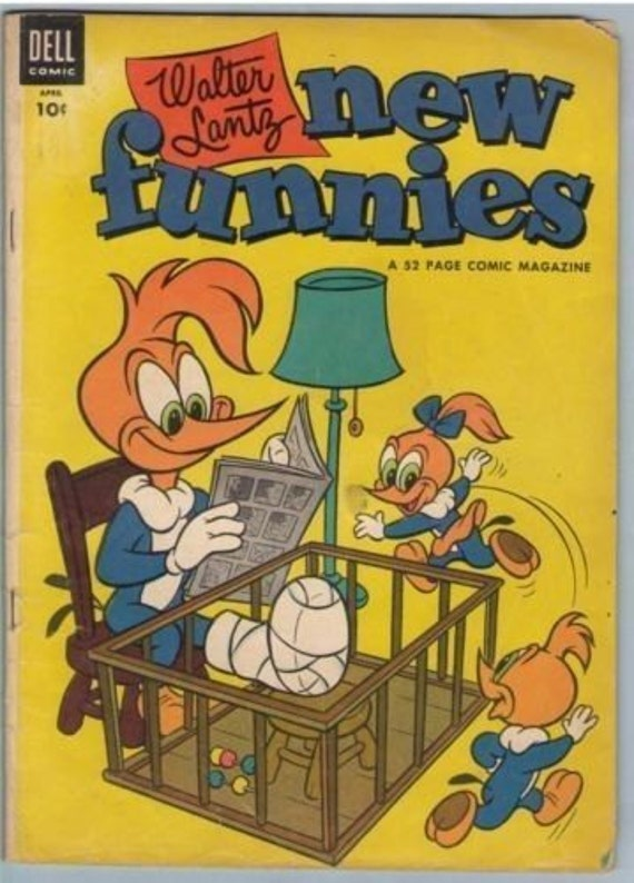 New Funnies 206 Apr 1954 VG (4.0)