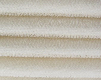 Quality 600S - Mohair - 1/4 yard (Fat) in Intercal's Color 100-White. A German Mohair Fur Fabric for Teddy Bear Making, Arts & Crafts