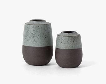 Modern Ceramic Scoop Vase