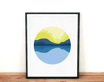 landscape print, limited edition prints, modern wall art fine art print, mountian print mountian landscape art, mountian wall art room decor
