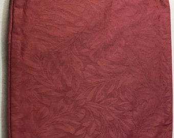 Custom Hand Made Pillow Case - Raspberry, Floral Design