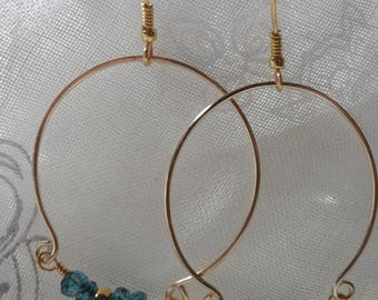 Topaz Hoop Earrings