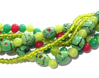 supplies,Beads -  SALE Wholesale Lot 100 pcs Random Mix  Glass Lampwork Beads for any craft