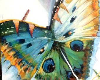 Oil on canvas Painting on canvas Butterfly II Original artwork Art decor Wall art