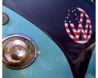 4 x 4 photo card-USA VW bus