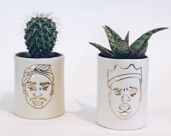 Tupac and Biggie Planters - Set of 2