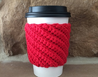 Crocheted Coffee Cup Cozy -Cup Sleeve