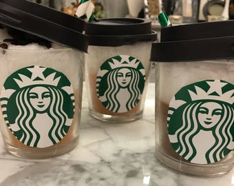 Starbucks Candle, Starbucks Coffee Candle, Coffee Candle
