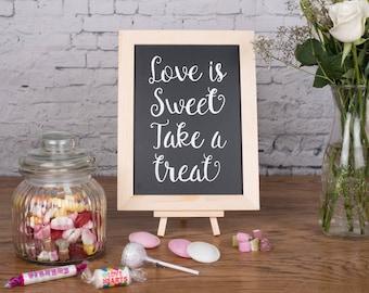 Love is Sweet - Wedding Chalkboard