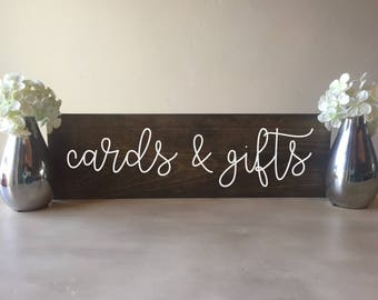 Cards and Gifts sign, Wedding Cards and Gifts Sign, Wood cards and gifts Sign, wooden cards and gifts sign, rustic cards and gifts sign