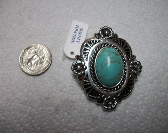 western turquoise and silver pendant