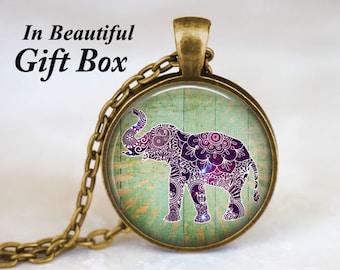 Boho Elephant Necklace - Bohemian Elephant Necklace. Boho Jewelry. Boho Necklace. Boho Chic. Gypsy Jewelry. Hippie Jewelry. Hippy Jewelry