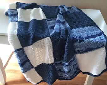 Nautical Blue Throw Blanket