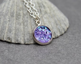 faux pendant etsy purple market bkuh druzy necklace bridesmaid il