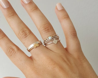 14k Gold-Filled & Sterling Silver Rings, Dainty Ring, Stackable Ring Bands