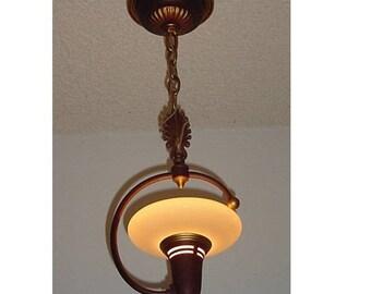 1930s Vintage Single Bulb Pendant Fixture Charming!
