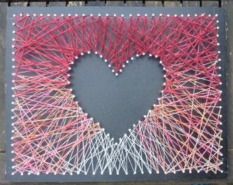 Mini Heart Strings Red/Orange