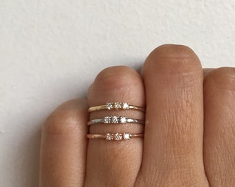 Past Present Future Ring Moonstone Ring Moonstone Engagement