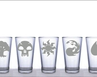 Magic the Gathering Mana Symbols Pint Glasses - Choice of 1