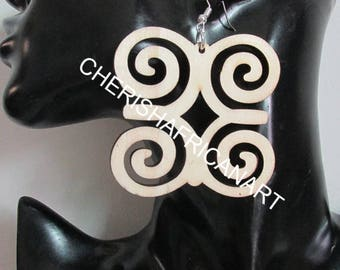 Adinkra Earrings, Dwennimmen symbol of Strength and Humility, African Earrings, Afrocentric Earrings