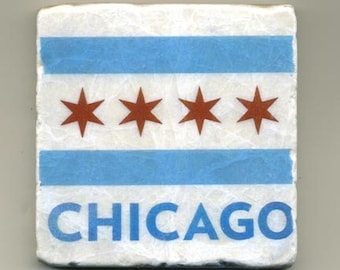 Chicago Flag -  Original Coaster