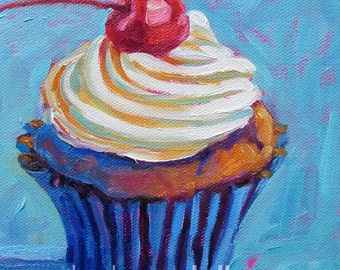 Cupcake - Paper - Canvas - Wood Block