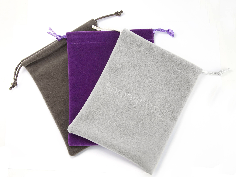 Custom Velvet Jewelry Pouch, Emboss Gift Bags with Logo ...