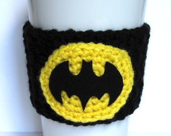 Batman Crochet Coffee Cup Cozy