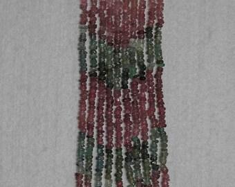 Tourmaline, Multicolor Rondelle, Faceted Rondelle, Tourmaline Bead, Semi Precious, Gemstone, Translucent, Full Strand, 3mm, AdrianasBeads