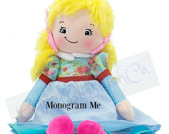 "Girl - Personalized Rag Dolls  - Approx 20"" Tall"