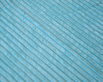 Fabric velvet thick ribs sky blue