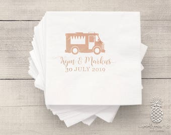Food Truck Party | Customizable Cocktail Napkins | Weddings, Engagement Bridal Parties, Birthday or Baby Shower | social graces and Co