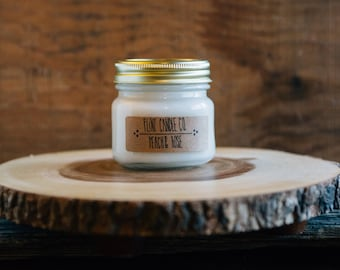 Peach & Rose - Scented Soy Candle 7oz