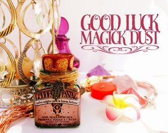 Good Luck Magick Dust *Goddess Blessing* with herbs, resins and crystals - Nutmeg, Anise, Rose, Allspice & Turquoise