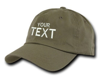 Moss Custom Embroidered Baseball Cap, Your Own Personalized Hat Custom Hat on a Curved Brim Baseball Cap, Choose Your Text