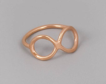 Rose Gold Infinity Ring, Rose Gold Ring, Infinity Ring, Delicate Ring, Thin Ring, Dainty Rose Gold Ring, Minimal Ring, Eternity ring