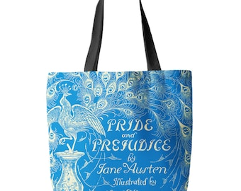 Pride and Prejudice, Jane Austen, Tote Bag, Printed in USA