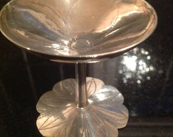 Solid silver traveling communion chalice