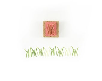 Grass stamp, green grass, wildlife stamp, nature stamp, grass blades, blades of grass, tiny stamp, small stamp, grassy art, earth stamp